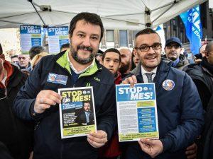"""La Lega raccoglie oltre 200mila firme per stop al Mes, Salvini esulta: """"È la voce del popolo"""""""