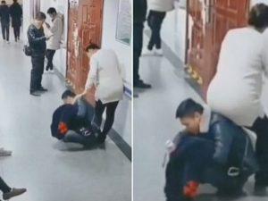 Cina. È incinta, ma nessuno le libera il posto: il marito si