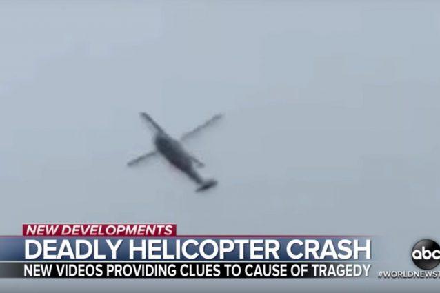 Morte Kobe Bryant: il filmato dell'elicottero pochi minuti p