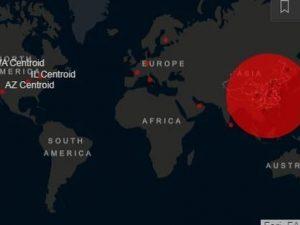 Coronavirus, nella mappa del contagio Italia terza al mondo