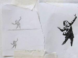 """Murales di San Valentino sfregiato, Banksy ribatte: """"Quasi c"""