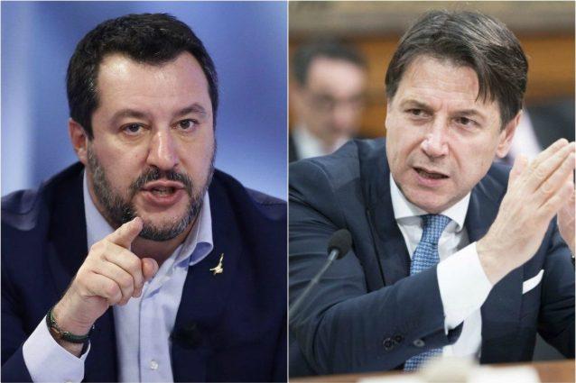 """Coronavirus, Salvini: """"Conte sorpreso per contagi? Non è passante: è pagato per risolvere problemi"""""""