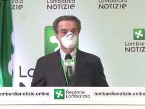 "Coronavirus, Fontana: ""Linea contagi non più in salita, pror"