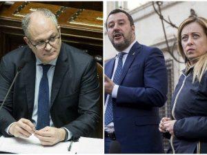 """Gualtieri replica a Salvini e Meloni: """"Da loro accuse grotte"""