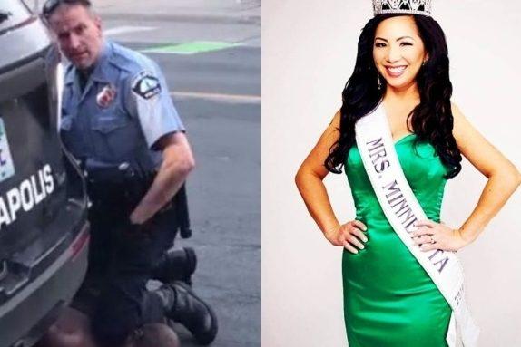 La moglie del poliziotto arrestato per la morte di George Floyd ha ...