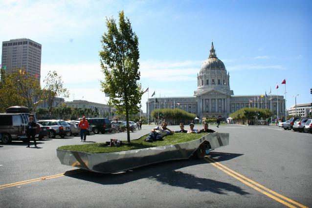 Parkcycle: il primo parco mobile trainato da una bici
