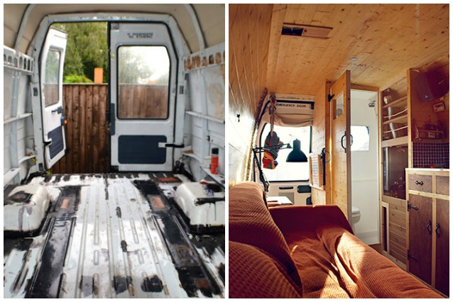 Da vecchio furgone a casa mobile come creare un camper fai da te - Bagno camper fai da te ...