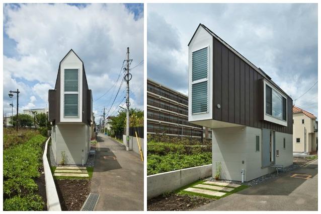 Piccolo fuori grande dentro la casa triangolare nasconde un tesoro - Case giapponesi moderne ...