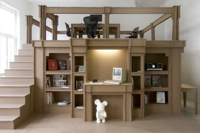 Nothing il primo ufficio costruito interamente di cartone - Casa di cartone ...