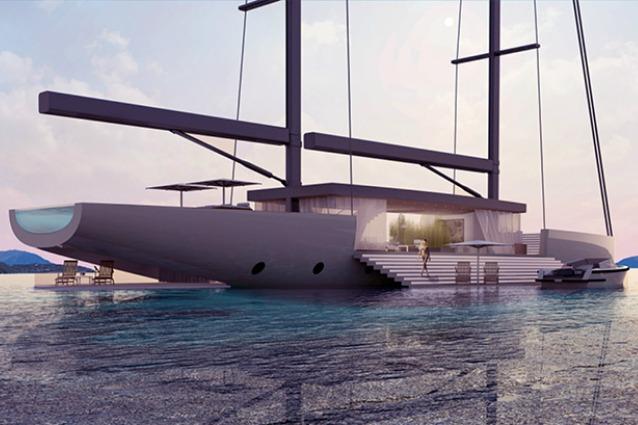 Nuove frontiere del lusso: ecco lo yacht con terrazza che affaccia sul mare