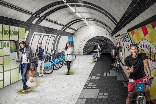 Londra: i tunnel della metro diventano piste ciclabili che producono energia