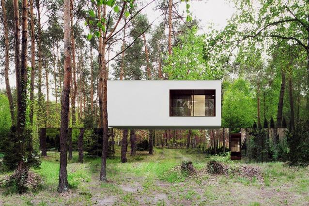 Izabelin House, la casa che fluttua nella foresta