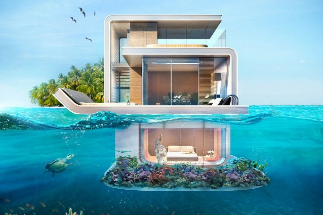 Vivere negli abissi: arriva la villa galleggiante con camera da letto subacquea