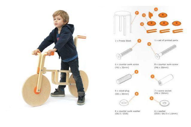Come trasformare uno sgabello Ikea in una bicicletta