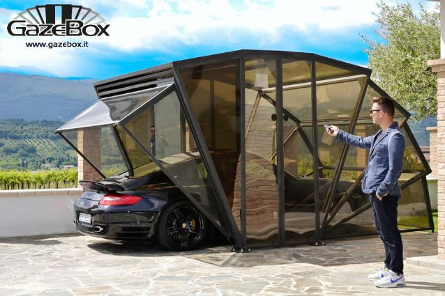 Gazebox il garage pieghevole che vi sorprender for Ampio garage per auto