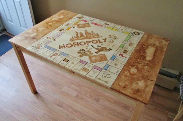 Lavori fai da te ecco come trasformare il tavolo da cucina in un tavolo da monopoly - Tavolo cucina fai da te ...