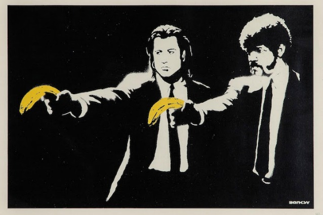 Banksy (b.1974) – Pulp Fiction / 4600 USD su Barnebys
