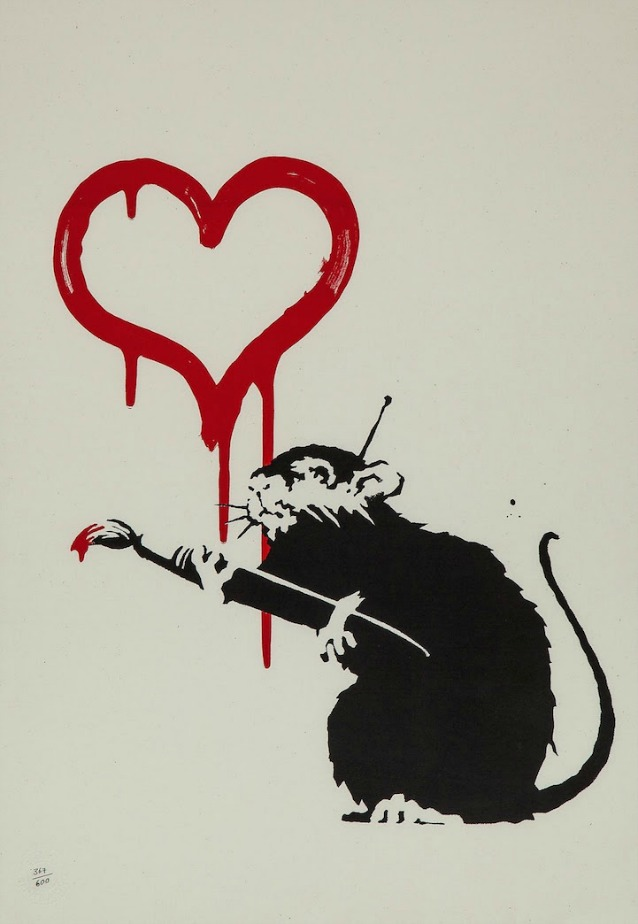 Banksy (b.1974) – Love Rat / 15200 USD su Barnebys