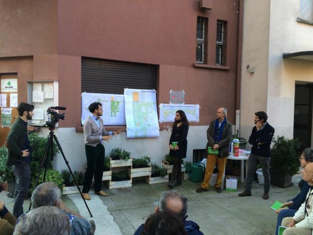 Presentazione del progetto agli abitanti del Giambellino in via Segneri 4. (Photo credit Renzo Piano G124)