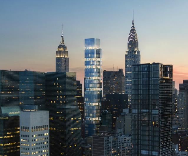 New york arriva il primo grattacielo con i piani giardino for Piscina grattacielo