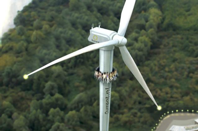 Cavalca una turbina eolica: ecco il nuovo parco divertimenti che produce energia