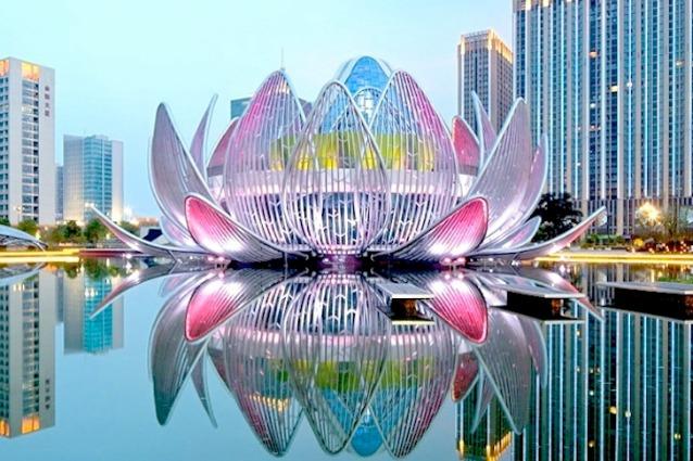 Cina Ecco Il Primo Edificio A Forma Di Fiore Di Loto