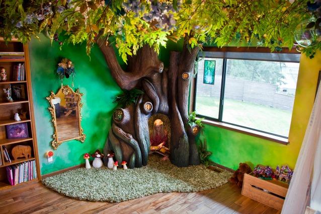 Trasforma la camera della figlia in un luogo incantato: il risultato è stupefacente