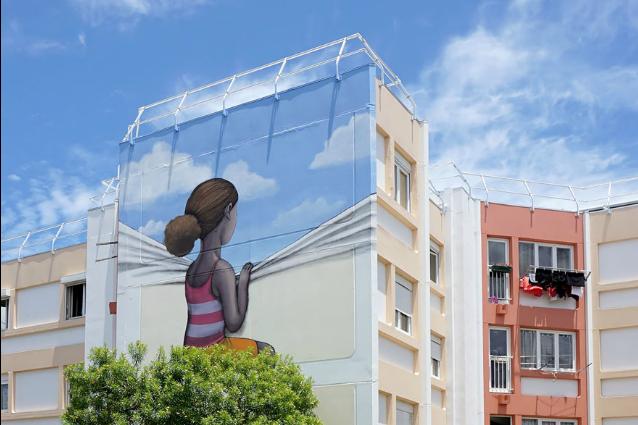 Ecco lo street artist che trasforma noiosi edifici in opere d'arte