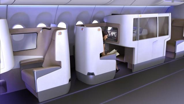 rivoluzione in prima classe ecco le nuove cabine sopra
