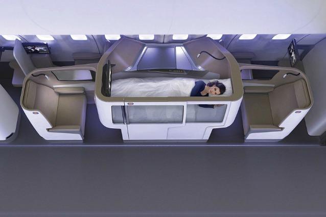 Rivoluzione in prima classe ecco le nuove cabine sopra for Ba cabina di prima classe