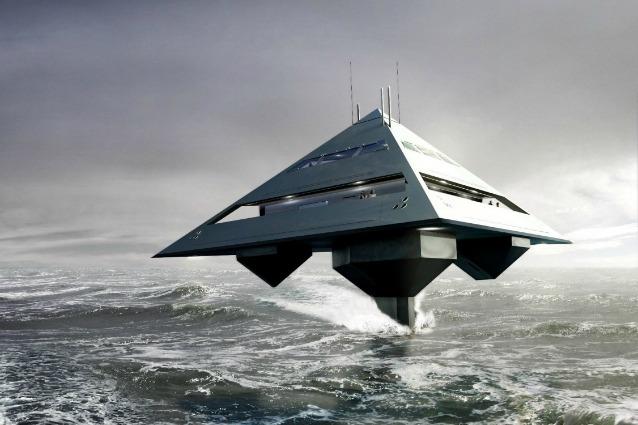 Sembra un'astronave invece è un super yacht che può volare sull'acqua