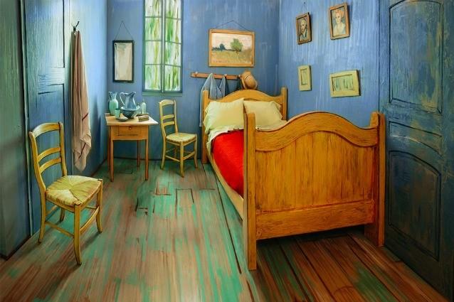 Copia la Stanza di Van Gogh a grandezza reale e la mette in affitto su Airbnb