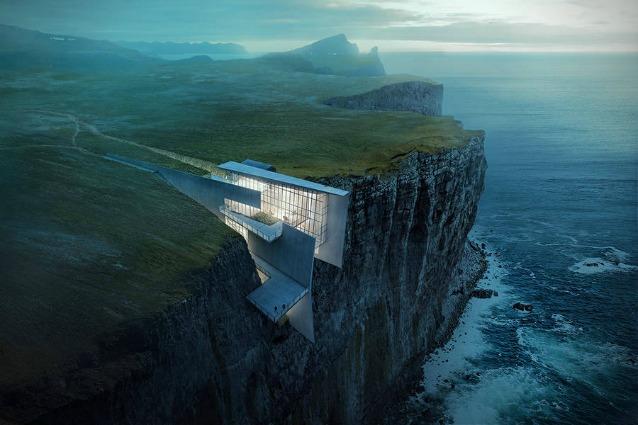 Islanda: una casa incastonata nella scogliera per ammirare il Mar di Norvegia