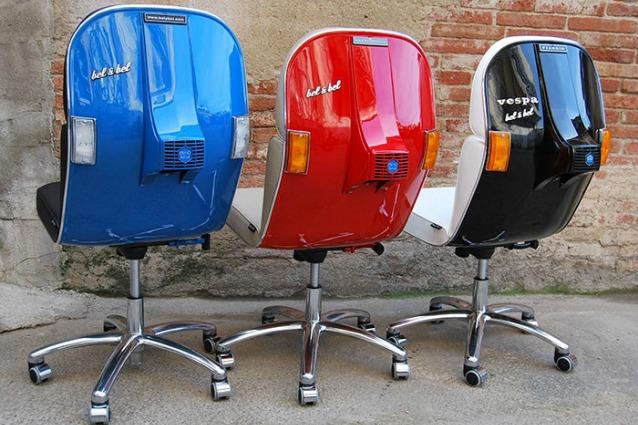 Bel bel chair quando le vecchie vespe diventano sedie for Sedute da ufficio