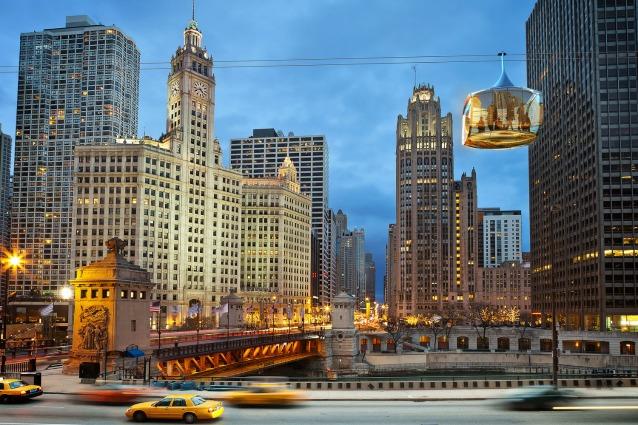 Gondole aeree a Chicago: ecco i futuri mezzi di trasporto in città