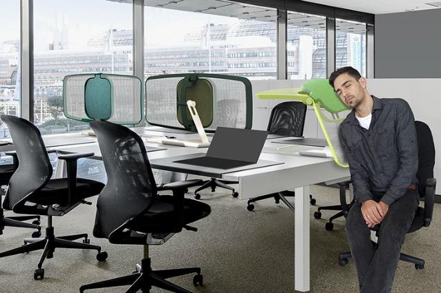 Dormire in ufficio ecco il primo elemento divisorio che for Musica rilassante da ufficio