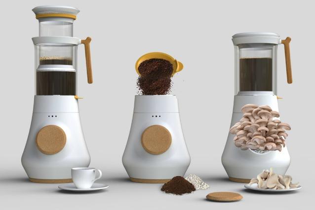 Ecco la prima caffettiera che produce funghi freschi in casa