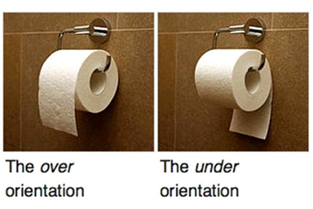 Rotoli Di Carta Igienica : Il verso giusto della carta igienica è sopra