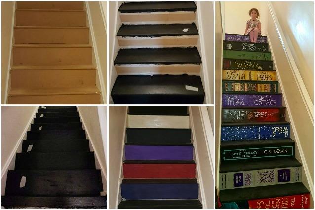 Come trasformare le scale di casa con i propri libri preferiti for Come creare i propri progetti di casa