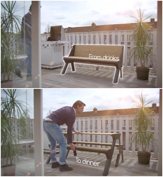 Come arredare il balcone in citt ecco la panchina che for Arredo per balconi
