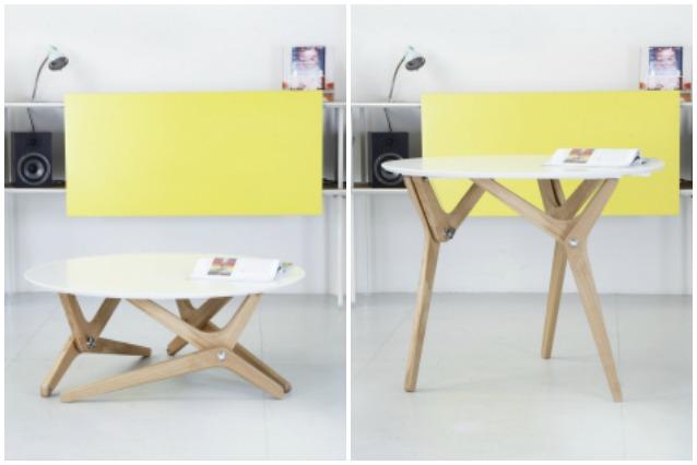 Boulon blanc da tavolino a tavolo da pranzo in un secondo - Tavolino che diventa tavolo da pranzo ...