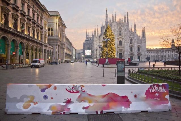 Milano contro il terrorismo: la street art colora la città
