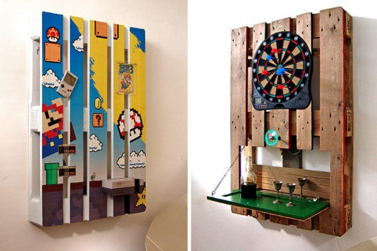 Fare Una Credenza Con Bancali Immagini : Come creare una parete attrezzata con i pallet