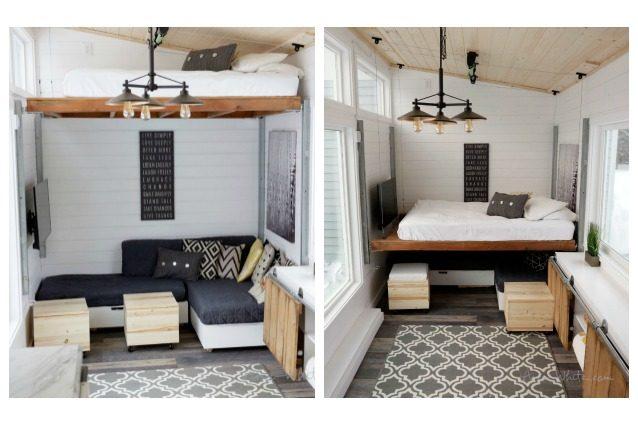 La casa dei sogni basta premere un pulsante ed il letto scompare nel soffitto - Soluzioni salvaspazio camera da letto ...