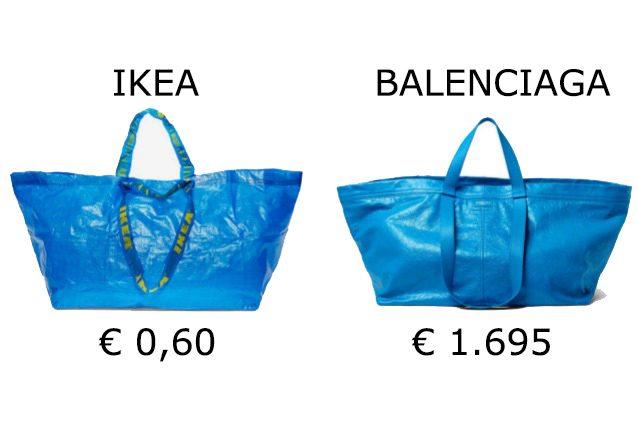 Ecco come IKEA risponde alla borsa blu di Balenciaga