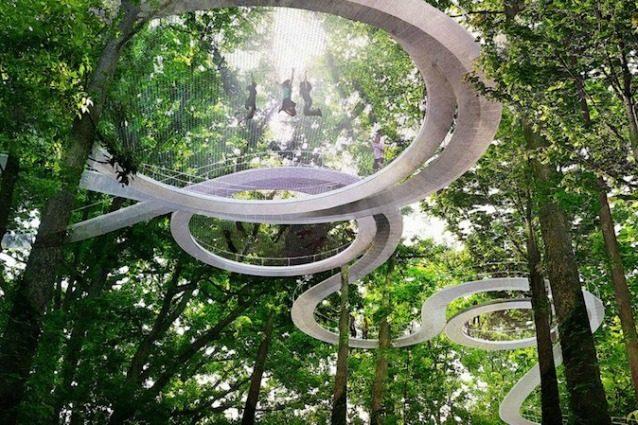 Benvenuti a Parkorman, il parco urbano di Istanbul: c'è anche un trampolino tra gli alberi