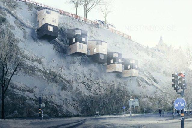 NestinBox: le case simili a nidi di uccello a misura d'uomo