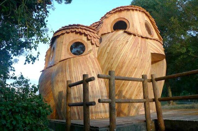 Francia come dormire gratis in queste cabine a forma di gufo for Cabine vicino a ohiopyle pa