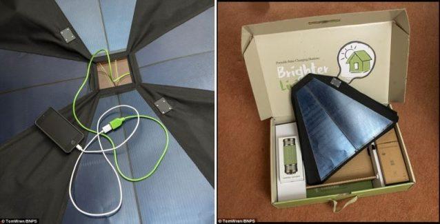 Pannello Solare Ombrellone Hook : Niente più cellulari scarichi in spiaggia arriva l