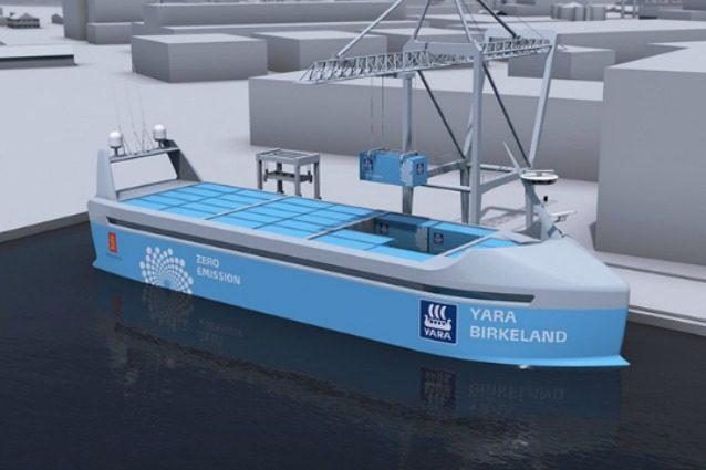 Dalla Norvegia arriva Yara Birkeland: la prima nave cargo al mondo che si guida da sola